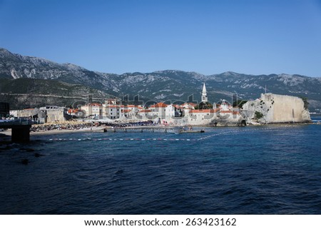 Very popular place among tourists in Montenegro. Budva