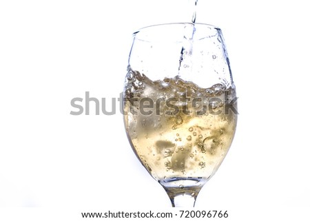 Very refreshing sparkling water in the wine glass