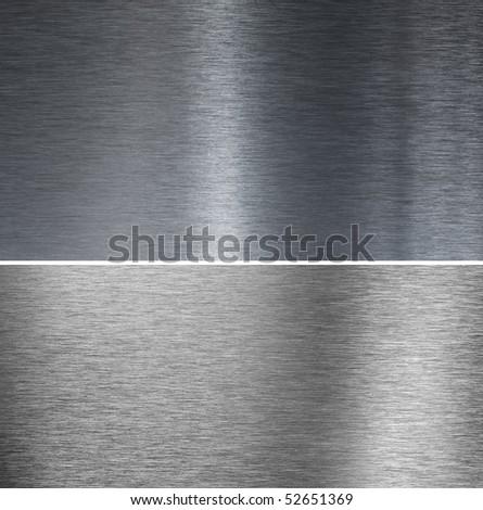 Very sharp brushed aluminum texture - stock photo