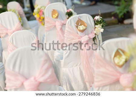 Very small depth of field, Bouquet Wedding Decorate - stock photo