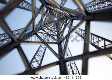 Very tall radio mast. - stock photo