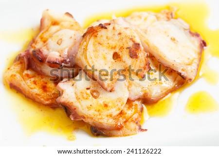 Very Tasty Galician Style Octopus - Spanish Dish - Tapas - stock photo