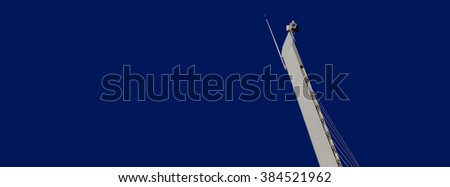 very top of antenna in Jerusalem, abstract and minimalistic rendering, panoramic format