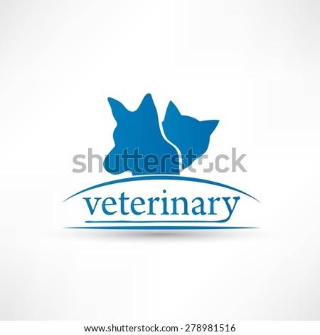 Veterinary sign cat and dog symbol - stock photo