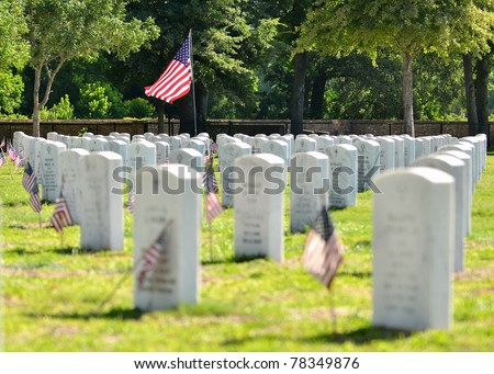 Veterns Memorial Cemetary - stock photo