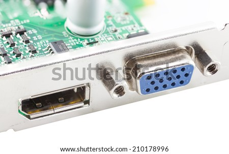 vga port and data port on computer card