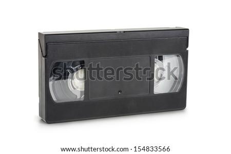 Vhs cassette on white background  - stock photo