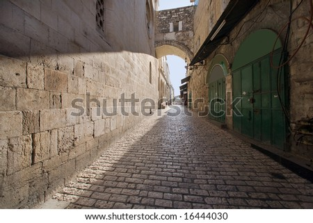 Via dolorosa - the last jesus way in jerusalem.
