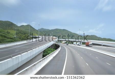 viaduct highway   - stock photo