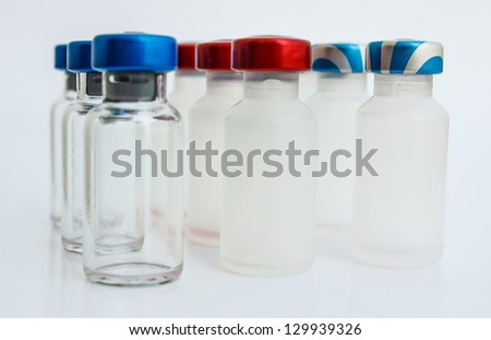 vial is cover a wide range of colors is available. - stock photo