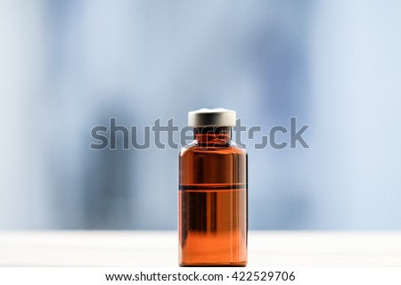 vial medicine isolated