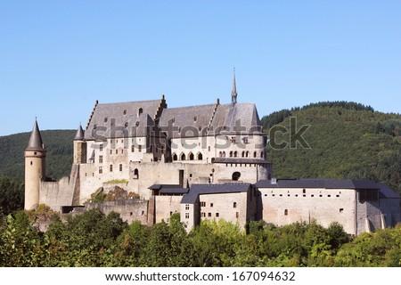 Vianden castle, Luxembourg - Europe - stock photo
