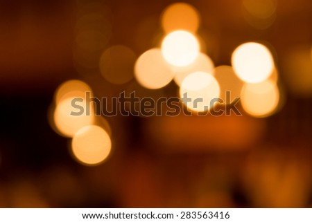 Vibrant color of defocused light bulbs. - stock photo