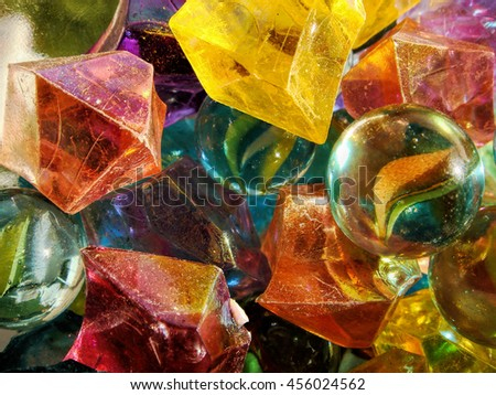 Vibrant colorful marbles and stones - stock photo