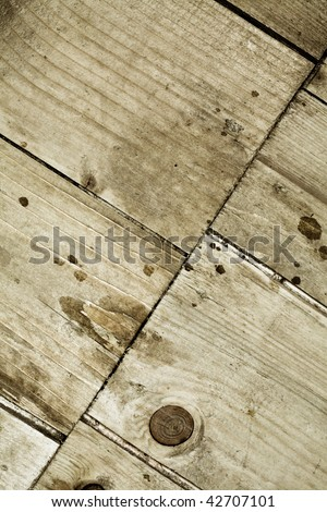 Vibrant colors grunge wooden planks composite background