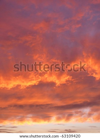 Vibrant dramatic sky. More of this motif & more backgrounds in my port. - stock photo