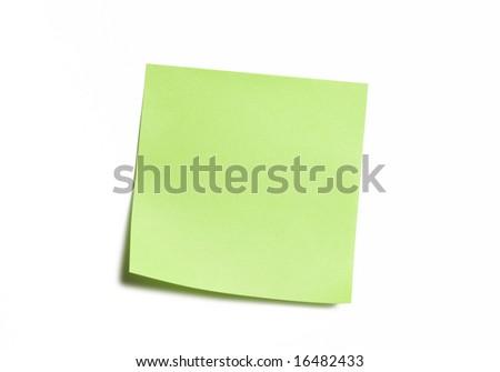 Vibrant Green Sticky Note - stock photo