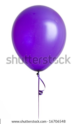 Vibrant purple balloon isolated on white background - stock photo