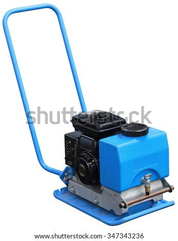 Vibrating Compactor Machine Isolated with Clipping Path