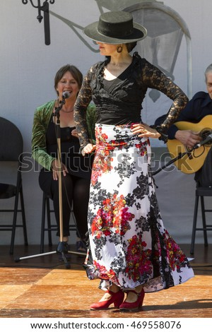 VICTORIA CANADA - AUGUST 8, 2016: The Victoria Flamenco Festival is a dynamic and diverse community festival with ever-increasing support and involvement. Victoria is a place to be.