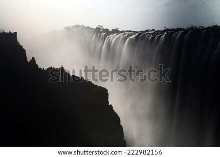 Victoria falls in Zambia - stock photo