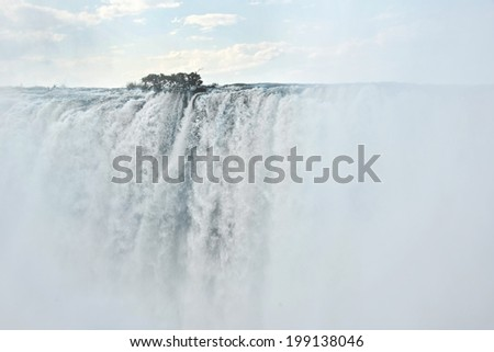 Victoria falls, Zambia - stock photo