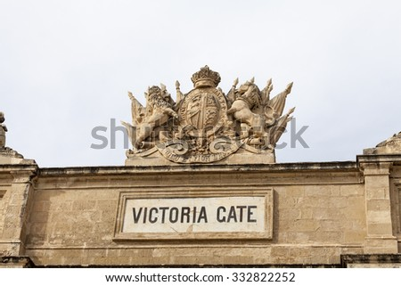 Victoria Gate in capital of Malta - Valletta, Europe. - stock photo