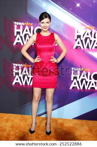 Victoria Justice at the 2012 TeenNick HALO Awards held at the Hollywood Palladium in Los Angeles, United States, 171112.  - stock photo