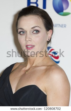 Victoria Pendleton arriving for the British Olympics Ball, Grosvenor House Hotel, Park Lane, London. 30/11/2012 Picture by: Simon Burchell - stock photo