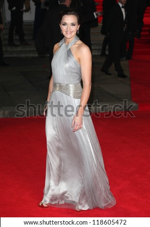 Victoria Pendleton arriving for the Royal World Premiere of 'Skyfall' at Royal Albert Hall, London. 23/10/2012 Picture by: Alexandra Glen