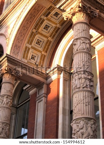 Victorian column and arch - stock photo
