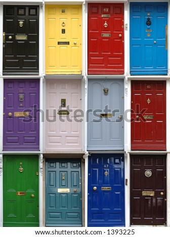 Victorian Doors, Dublin, Ireland - stock photo