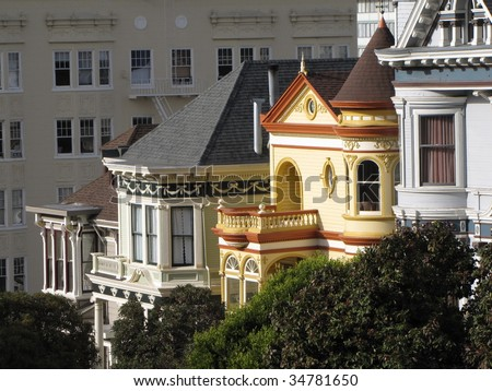 victorian house - stock photo