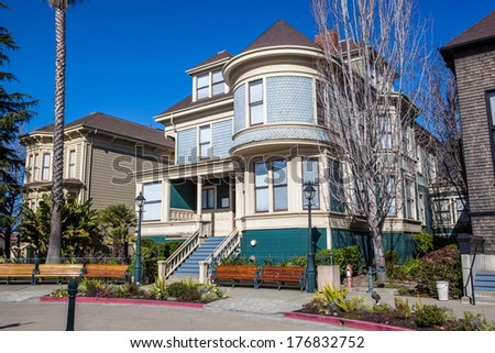 Victorian house in Oakland, California - stock photo