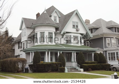 victorian house (pre-1990) - stock photo