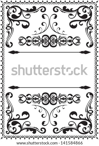 Victorian nice page is isolated on white