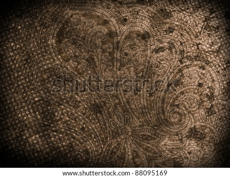 Victorian Paisley Abstract Background - stock photo