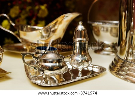 victorian style kitchenware - stock photo
