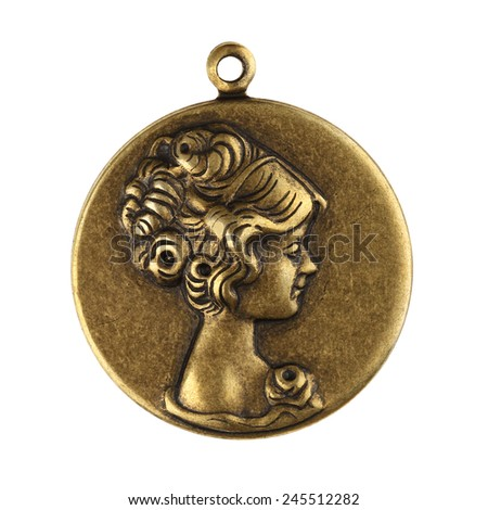 Victorian Vintage Lady Charm - stock photo