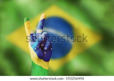 victory for Brasilia - stock photo