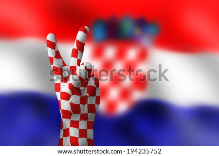 victory for Croatia - stock photo