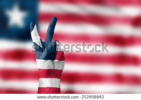 victory for Liberia - stock photo