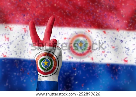 victory for Paraguay - stock photo