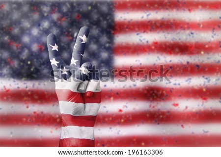 victory for USA - stock photo