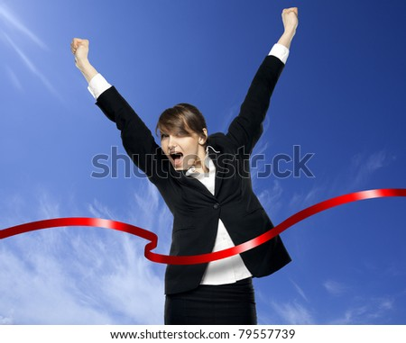 victory in business. see more on my page - stock photo