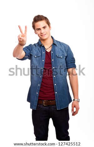 Victory/Peace - stock photo