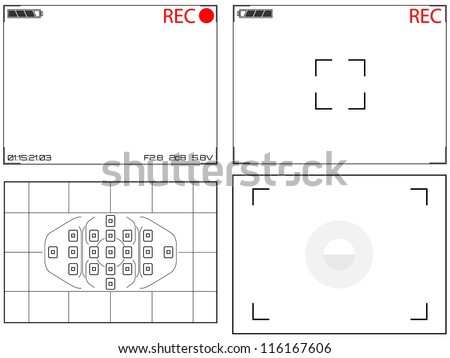 Video and Still Camera Viewfinder Displays - stock photo