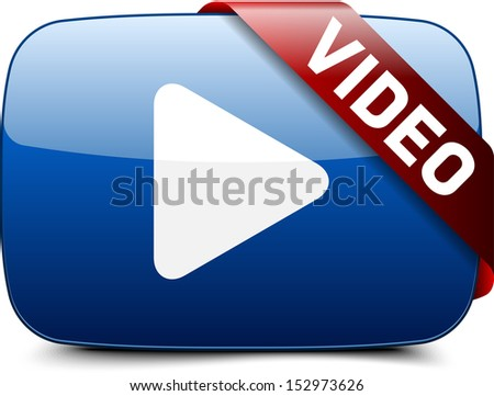 Video button - stock photo