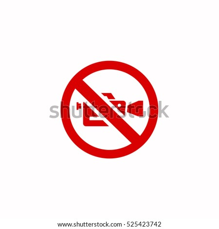video camera forbidden icon, on white background