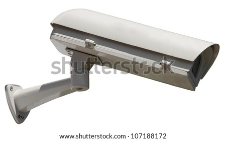 Video Camera Security System isolated - stock photo